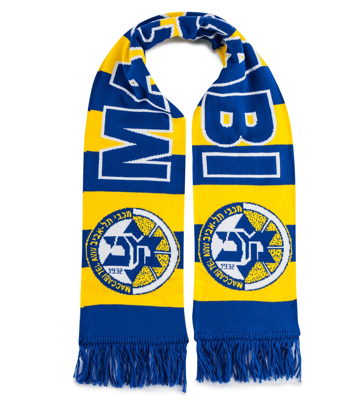 Scarf MACCABI TEL AVIV ISRAEL Scarf Cachecol sjaal no flag Tricot